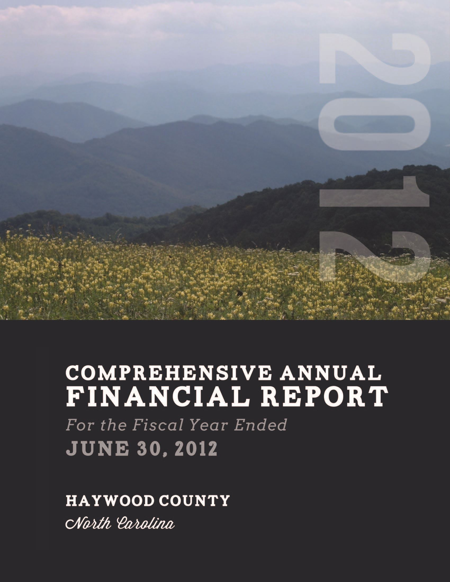 Comprehensive Annual Financial Report 2012 Cover Opens in new window